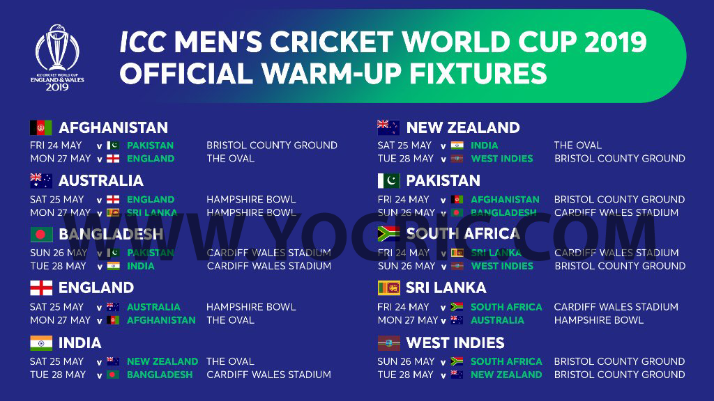 World Cup Warm Up Matches