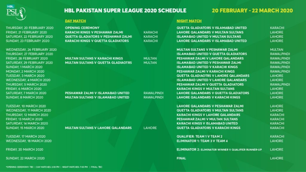PSL 5 Live Streaming | Watch PSL 2020 Live | T20 Pakistan Super League